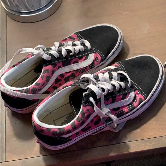 Vans Shoes | Pink Cheetah Vans | Poshmark